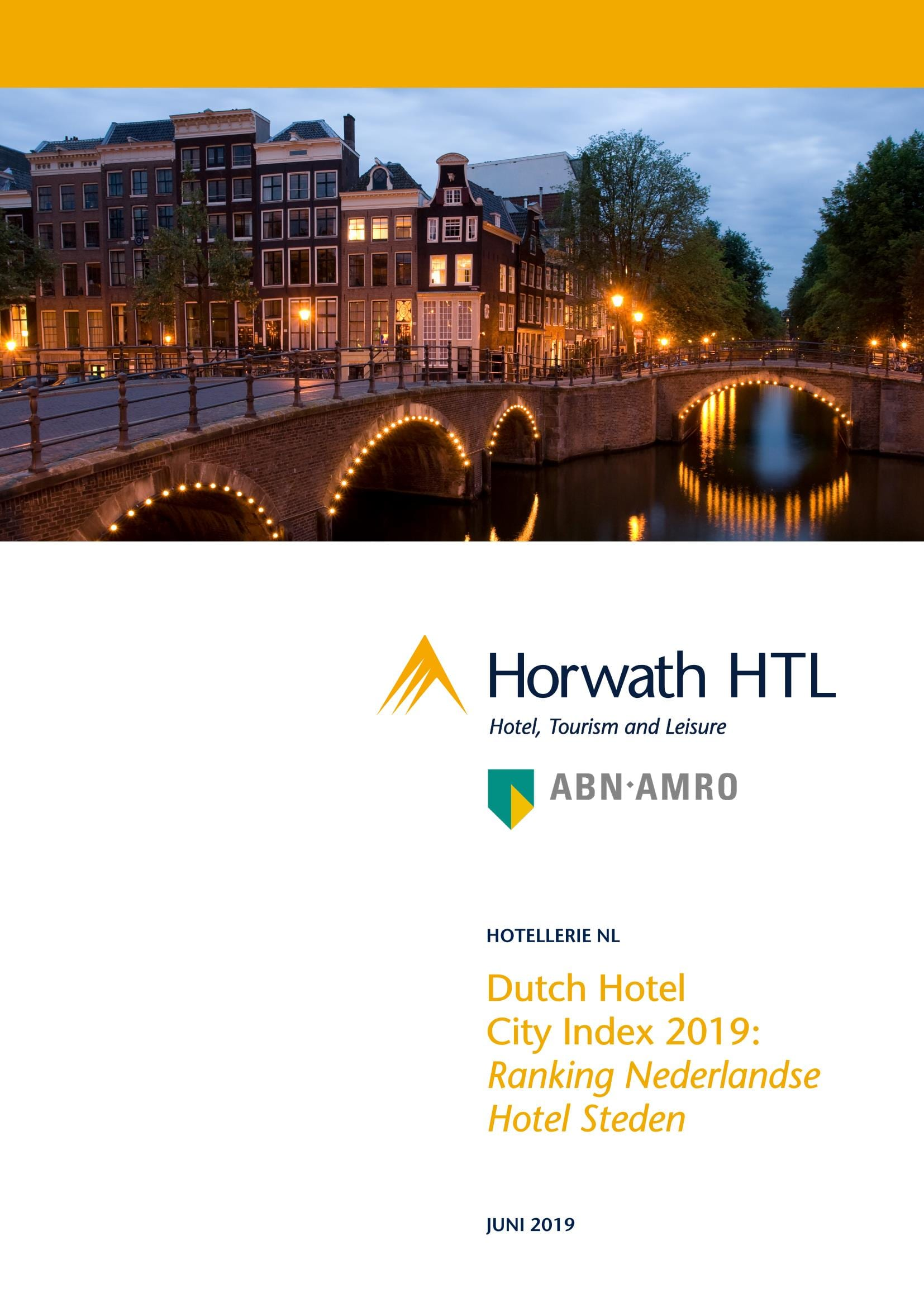 Rapport: Dutch Hotel City Index 2019